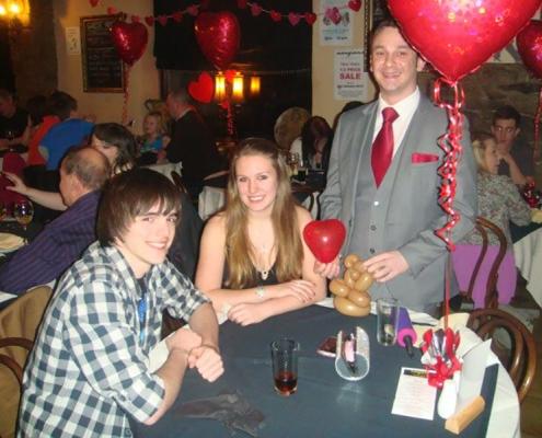 valentine day-darwen-restaurant-magician